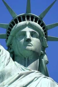 Close-up of the Statue of Liberty's Face