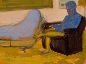 Eliza Griffiths, Untitled (New Yorker variation 1), 2013, oil on board, 9 x 12_L
